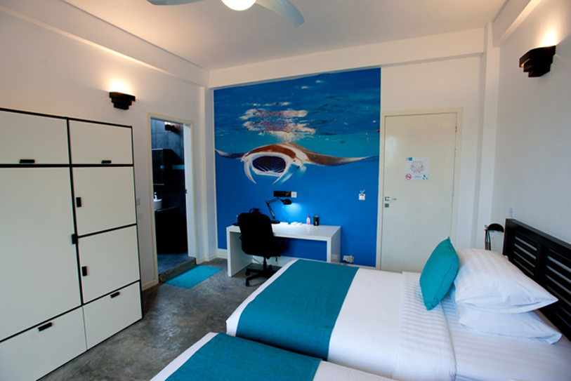 Boutique Beach Maldives Double Deluxe Bedroom Twin Beds