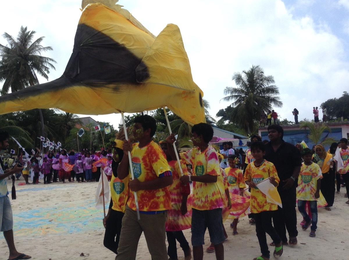 Boutique Beach Maldives Annual Whaleshark Festival Children Dressed up in Colourful Costumes