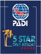 5 star PADI Dive Resort Logo